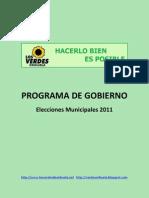 LV-Programa de Gobierno