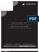 Sundaram Equity Plus Application Form