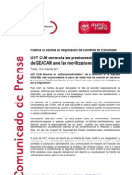 100511 Np Ugt Clm Sobre Movilizaciones en Geacam(2)
