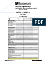 AIEEE-2011(Rescheduled) Weightage Analysis Report 11-05-2011