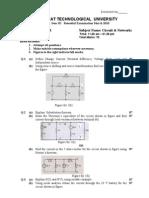 130901-1 Circuit &  networks gtu 3rd sem paper