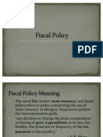 Fiscal Policy...