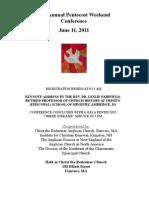 Pentecost Conf 2011 Detailed Brochure