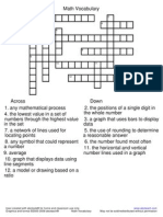 Crossword Mathvocab