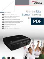 Data Projector for Schools - SVGA Optoma ES521 Lamp 2700 Ansi 5000 to 6000 hours - 4500:1 Contrast