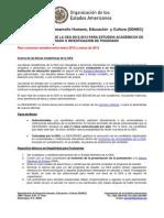 OAS Scholarships 2012-2013 Portal