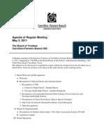 May 5 School Board Agenda