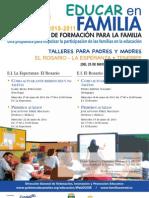 PLAN CANARIO FORMACIÓN PARA LA FAMILIA - EDUCAR EN FAMILIA - LA ESPERANZA, EL ROSARIO
