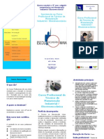 ESMAIA - Panfleto Curso Profissional Manutençao Industrial / Electromecanica