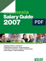 Standar Gaji Indonesia  2007