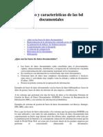 Concepto y características de las bd documentales