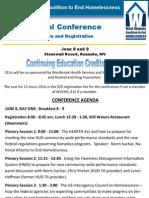 WVCEH Conference Agenda
