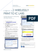 How to Use Wireless Printing