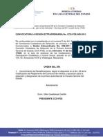 Convocatoria CCS-FISCALIA Sesión extraordinaria No. 008 11-05-11