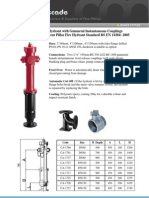 Pillar Fire Hydrant Gunmetal Instantaneous Couplings