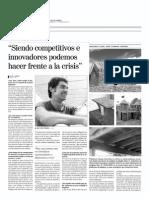 Entrevista a Juanjo Campos en La Voz de Almeria