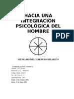 Hacia Una Integracion Psicologica Del Hombre