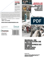 Manual de protección para defensores de derechos humanos
