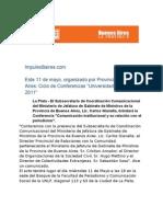 Gacetilla Universidad y Gobierno UNLP