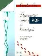 Csendes Éva_Életvezetési ismeretek és készségek_III-IV. osztályos program, 1999