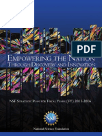 NSF Strategic Plan For Fiscal Years (FY) 2011-2016