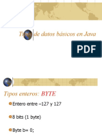 Tipos de Datos Basicos en Java