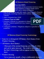 AC301 Off Balance Sheet Financing