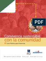 Guía Convivencia Sustentable con la Comunidad