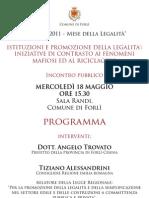 """""""Maggio 2011 - Mese della Legalità"""""""