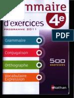 Grammaire 4ème 01