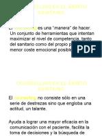 COUNSELLING EN EL ÁMBITO SANITARIO