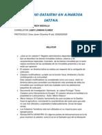 Protocolo Catastro en America Latina