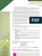CP - Appel à participation Prix Handi-Livres