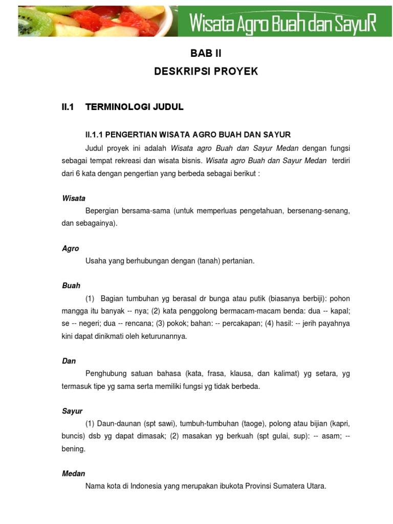 Business Plan Wisata Agro Buah Dan Sayur Medan