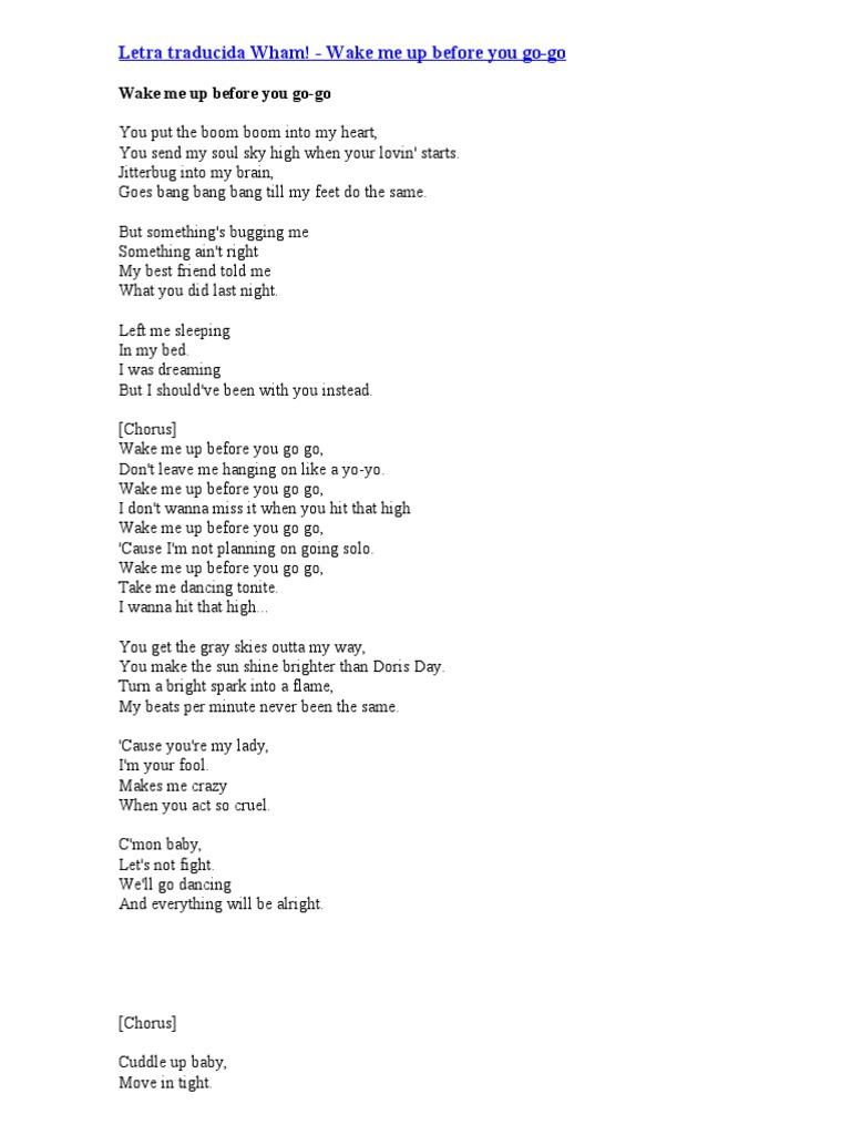 Letra Traducida Wham Ocio