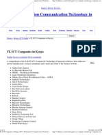 IT, ICT Companies in Kenya _ ICT - Information Communication Technology in Kenya