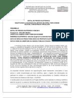 PREGÃO ELETRONICO 09  AQUISIÇÃO DE PAPEL HIGIENICO