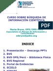 CURSO SOBRE BÚSQUEDA DE INFORMACIÓN CIENTÍFICA
