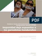 Honduras - Informe Impunidad deja expuestos a los periodistas hondureños-Misión Internacional 2010
