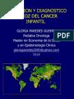 PREVENCION Y DIAGNOSTICO PRECOZ DEL CANCER INFANTIL