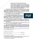 Power of Attorney New York Statutory Short Form