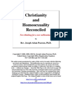 Christianity and Homosexuality Reconciled by Dr. Joseph Adam Pearson