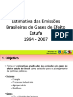 Emissoes Brasileiras de Gases de Efeito Estufa 1994 2007