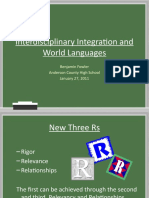 Interdisciplinary Integration and World Languages