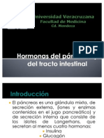 Hormonas del páncreas y del tracto intestinal