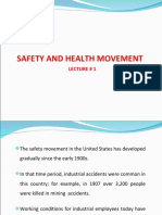 Ise 465 - 102 Lec # 1 Safety and Health Movement