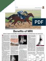 Thoroughbred Times 032511 Hallmarq Benefits of MRI Peloso