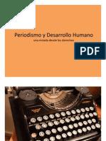 Periodismo y Desarrollo humano- Aldemar Moreno