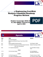 Systems Engineering Cost-Risk Analysis Capability Roadmap Progress Review NASA 20050406