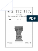 Revista Arhitectura - anul 1920